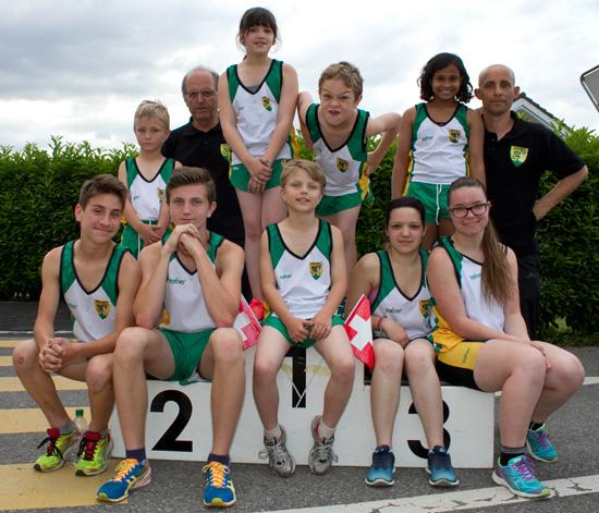 Les jeunes athlètes du CM Monthey à Monthey le 30 mai 2015 [(c) Jérôme Genet].