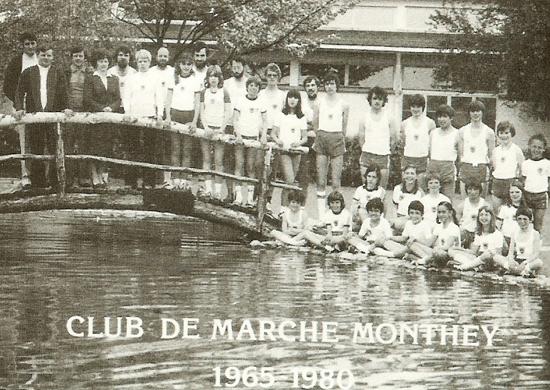 Le Club de Marche Monthey en 1980 [DR]