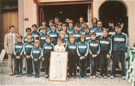 Le Club de Marche Monthey en 1985 [DR]