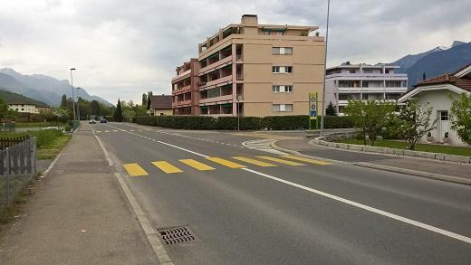 Le circuit sur la Route des Aunaires à Monthey [Jérôme Genet]