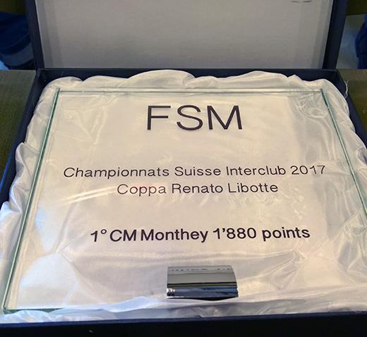 Monthey champion suisse interclubs 2017 (Jérôme Genet)